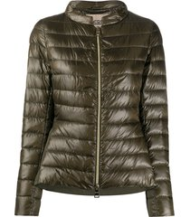 herno peplum detail down jacket - green