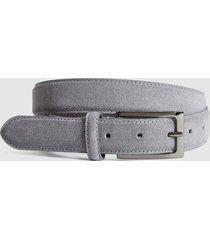reiss joopy - suede belt in grey, mens, size 36