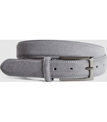reiss joopy - suede belt in grey, mens, size 36