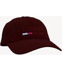 tommy hilfiger men's tommy jeans cap deep red -