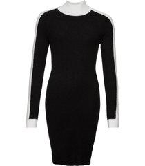 abito in maglia color block (nero) - rainbow