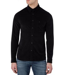 camisa corduroy slim stretch negro calvin klein