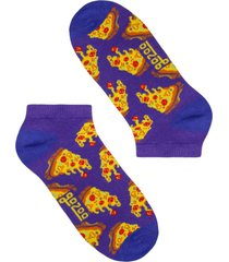 calcetín pizza morado corto gazoo