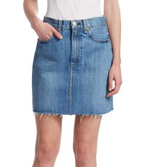 rag & bone women's moss denim skirt - clean levee - size 25 (2)