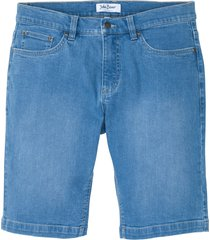 bermuda di jeans elasticizzati in cotone biologico regular fit (blu) - john baner jeanswear