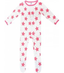 baby boys and girls organic bamboo star footie