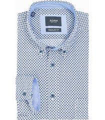 adam est 1916 adam est. 1916 casual shirt blauw print
