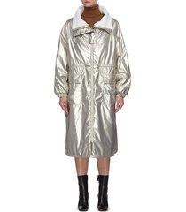 reversible drawstring waist coat