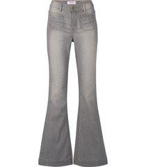 jeans elasticizzati comfort  a zampa slim (grigio) - john baner jeanswear