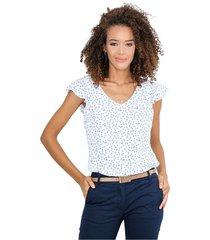 blusa manga corta escote en v
