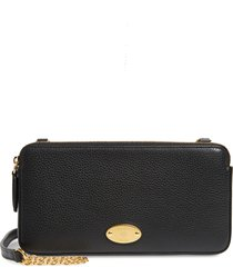 mulberry plaque leather wallet on a chain in black at nordstrom