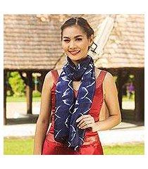 silk scarf, 'sapphire mystique' (thailand)
