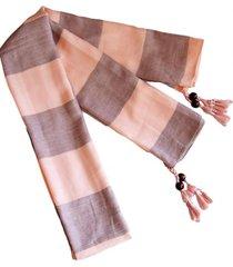 bufanda lana edimburgo rosado viva felicia