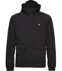hooded pocket jacket dun jack zwart lyle & scott