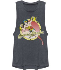 fifth sun dc wonder woman action pose festival muscle women's tank