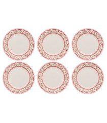 conjunto 6 pratos rasos 24cm biona donna vera