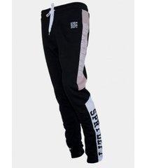 pantalon buzo  letras costado negro family shop