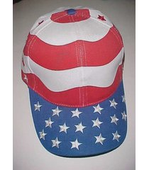 usa patriotic red white blue stars flag adult unisex  baseball cap one size new