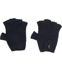 chanel pre-owned knitted fingerless gloves - blue