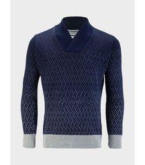 suéter textura degrade para hombre 08919