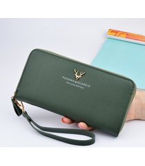 billetera mujeres- cartera larga monedero-verde