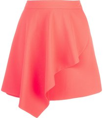 alice+olivia nicky draped mini skirt - orange