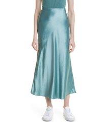women's boss vitora bias cut satin skirt, size 4 - green