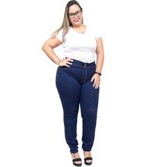 calça jeans cambos plus size skinny waldicea azul - kanui