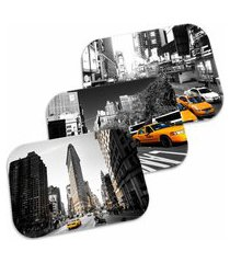 kit 3 tapetes decorativos wevans new york 40cm x 60cm multicolorido
