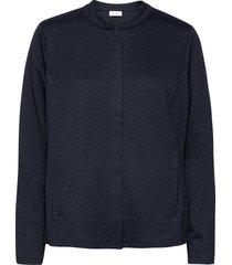 jacket knit fabrics blouse lange mouwen blauw gerry weber