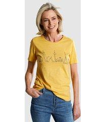 shirt dress in geel
