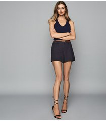 reiss lyla - tailored shorts in navy, womens, size 12l