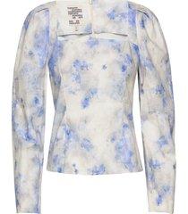 marlowe blouse lange mouwen blauw baum und pferdgarten
