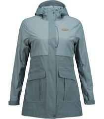 chaqueta drizzle b-dry azul grisaceo lippi