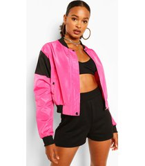 colour blocking windjack, warm roze