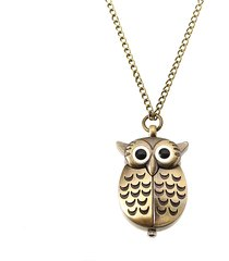 orologio unisex owl orologio sveglio retro orologio da tasca