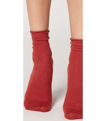 calzedonia non-elastic cotton ankle socks woman orange size 36-38