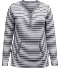 karen scott striped henley top, created for macy's