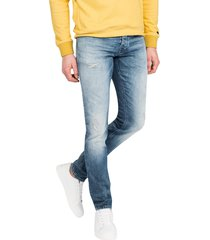 jeans cast iron blauw cope tapered