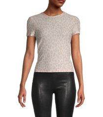 a.l.c. women's bambina leopard print tissue t-shirt - tamarin - size xs