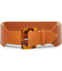 steve madden oversize tortoise-buckle stretch belt