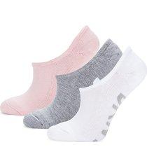 dkny sport women's 3-pack bold logo no-show socks - black