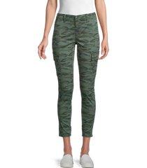 joe's jeans women's mid-rise utility jeans - dark olive - size 32 (12)