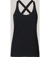 summum 3s4223-30118 990 singlet lurex straps luxury basics black zwart