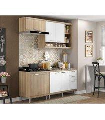 cozinha compacta completa multimã³veis com 4 peã§as sicãlia 5810 argila/branco - bege/incolor - dafiti