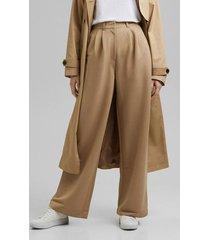 pantalón con lino beige esprit