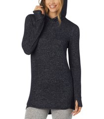 cuddl duds soft knit long-sleeve tunic hoodie
