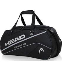 bolso deportivo combat 45 negro plata head