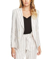 1.state duet modern striped double-breasted blazer