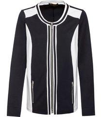 cardigan in jersey bicolore (nero) - bpc selection